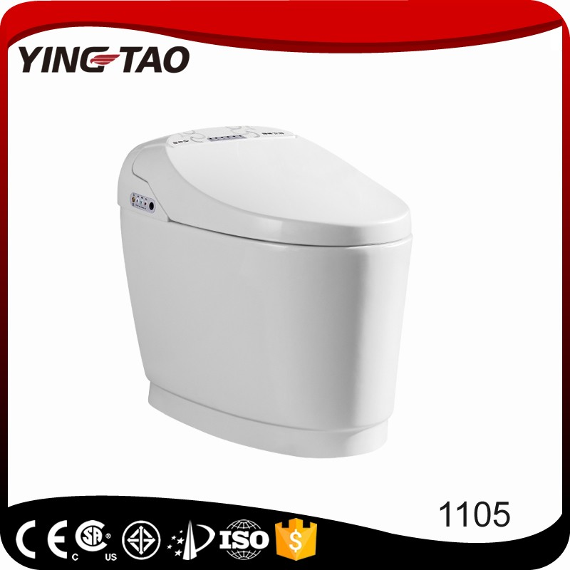 Yingtao smart toilet with auto flush function one piece ceramic american standard bidets toilets