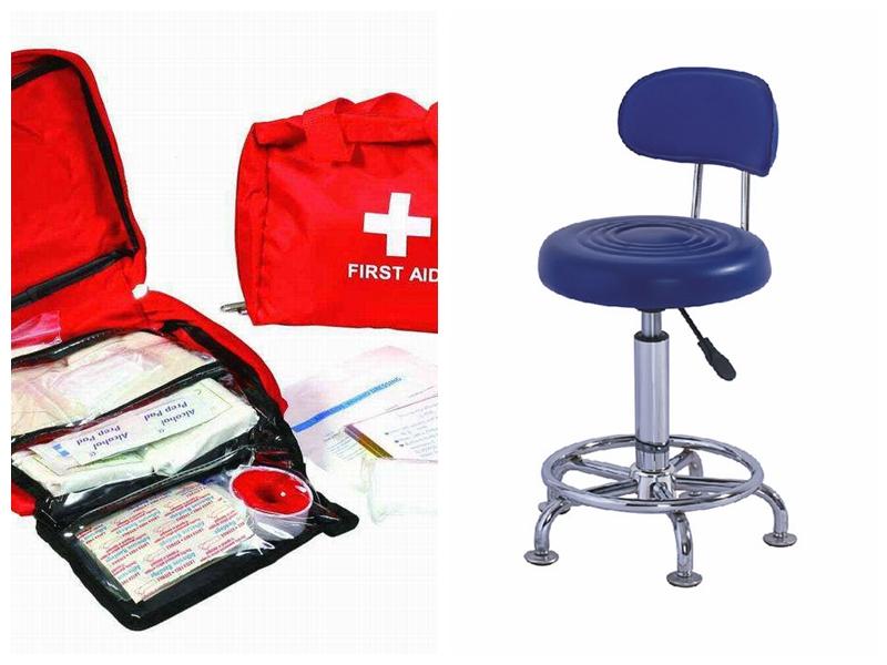 2018 नई शैली स्टेनलेस स्टील और लोहे की सामग्री दंत तह Accompanying कुर्सी आसव बिस्तर अस्पताल और क्लिनिक के लिए कुर्सी