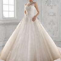 JS033 New Arrival Strapless Ball Gown Lace Wedding Dresses 2018 Long Sleeves Wedding Dress Lace Up Long Bridal Gowns