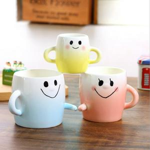 Three-person Family Smile Porcelain Coffee Mug Embrace Ceramic Milk Cup Family Drinking ware 3pcs/set Tea mug