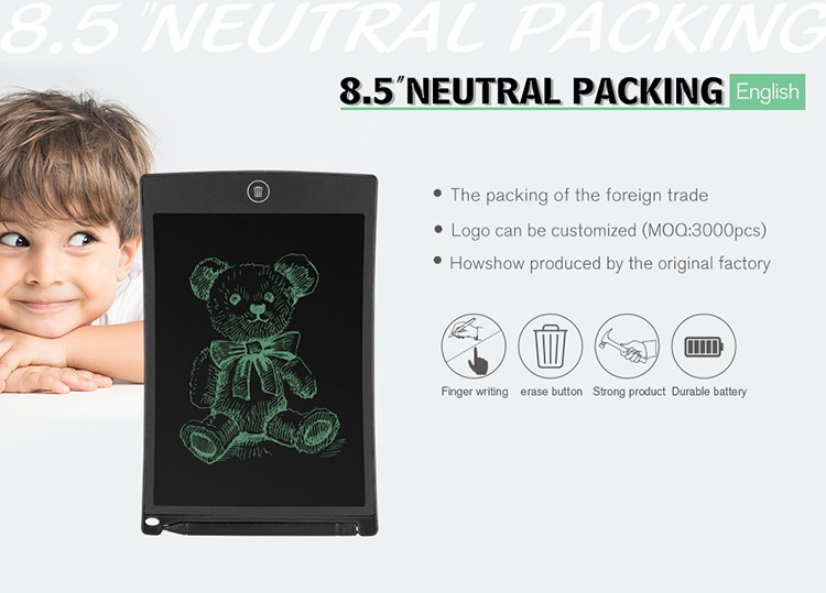Best selling 8.5 inch big drawing board , LCD Writing Tablet, Digital Writing Pad For Kids