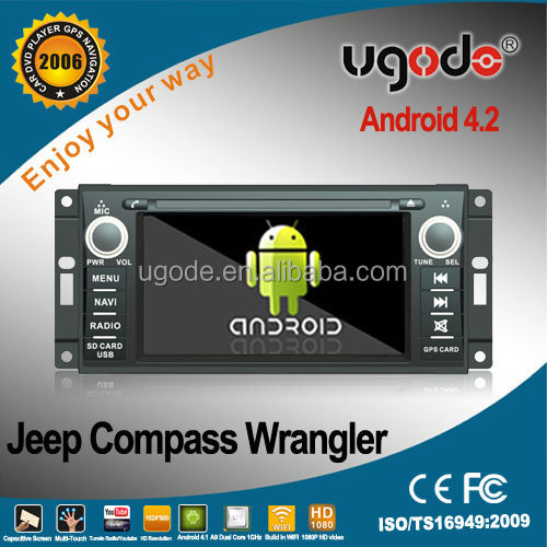Factory HD touch screen android 2 din radio gps navigation jeep wrangler