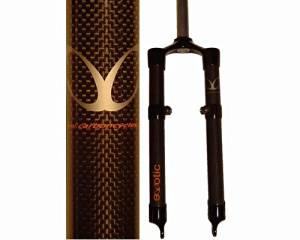eXotic Lightweight Rigid Carbon XC MTB Bike Fork with Disc & V Brake Mounts 46.5