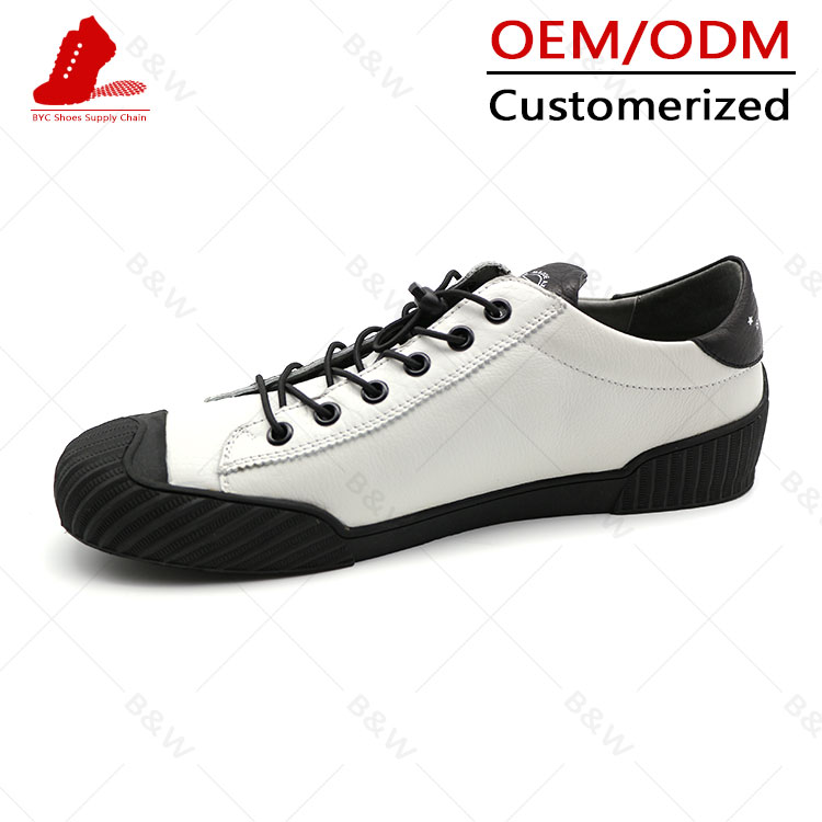 Classical Fashion flat high top white sneakers for men