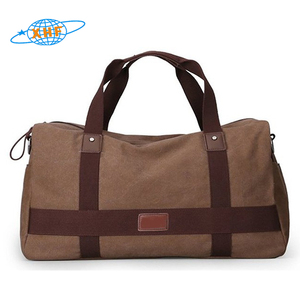 Organizer canvas duffel waterproof travel bag canvas weekend bag