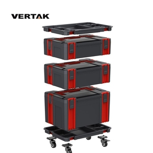 VERTAK Garden household Plastic garage mobile box trolley tool storage cabinet