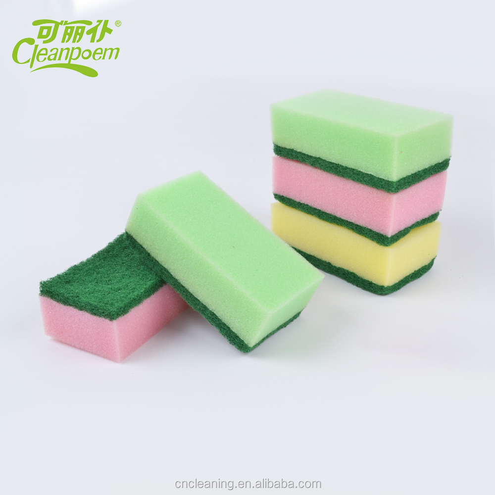 wholesale kitchen cleaning sponge scourer with Abrasive Scouring Pad