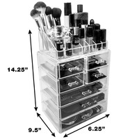 22560 China glold supplier Large acrylic cosmetic/makeup organizer
