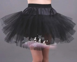 Sexy cheap Short Black tulle Petticoats Skirt fluffy tutu skirt chiffon petticoat for girls