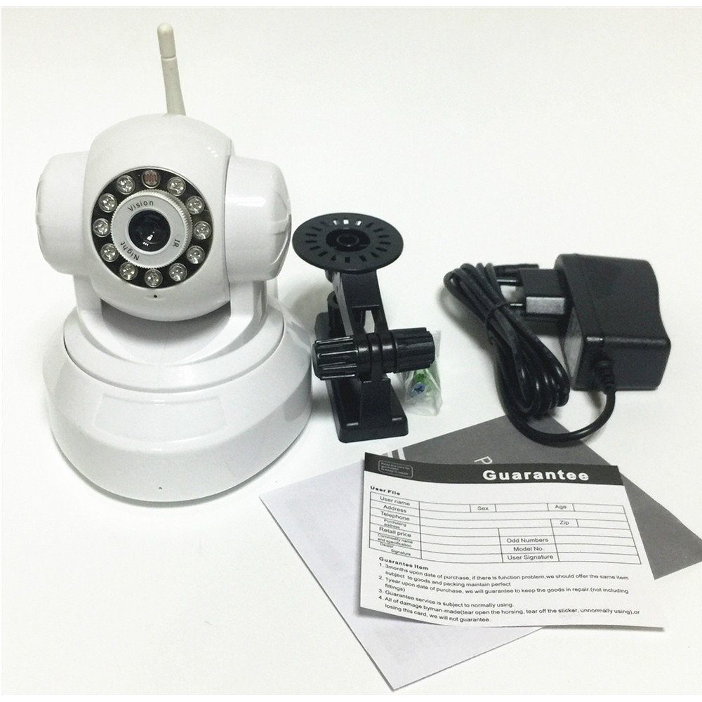 SHRXY 720P Wireless WIFI IP Camera Security System, Pan&Tilt / Plug&Play / H.264 HD / IR Cut Night Vision / APP Remote View