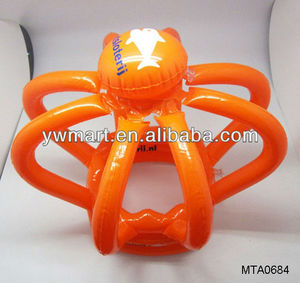 promotion PVC inflatable crown hat toy