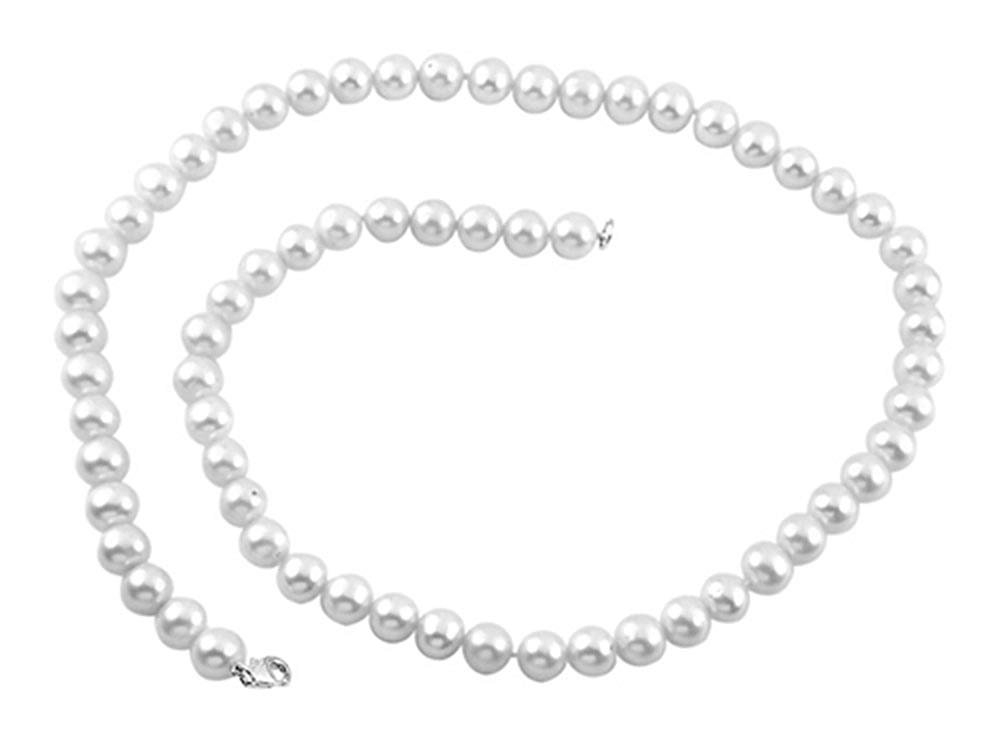Finejewelers 7.5-8.00mm White Potato Freshwater Cultured Pearls 18 Inch Necklace Sterling Silver