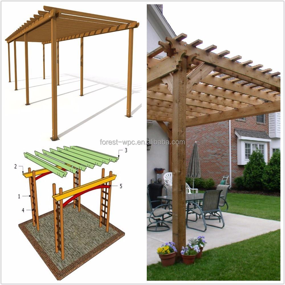 Como construir una pergola barata pergolas de madera - Como hacer un porche barato ...