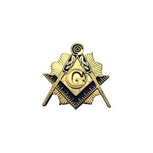 Low Factory Price Wholesale One Inch Compass And Square Masonic Lapel Pin