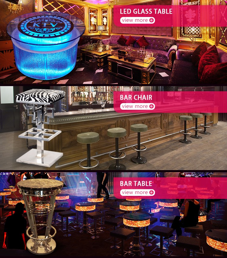 High Quality Lounge Lem Bar Stool Luminous Cube Led Glowing Chair