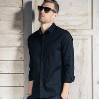 Wholesale price high quality black men shirt for sale