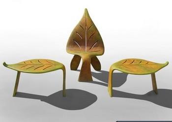 Sedie Da Giardino In Plastica : Albero di plastica di figura di foglio di sedia esterno design