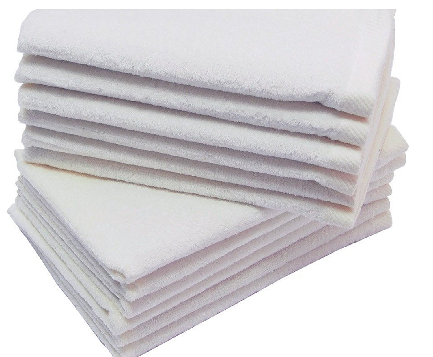 Big Deal! Cotton Terry Towel, WHITE Color,Low Cost Bulk Towels at Wholesale Prices! (24 Count Pack) (24, WHITE)