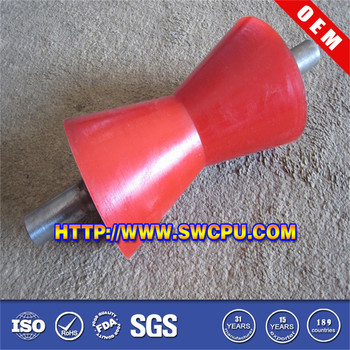 Steel Shaft Concave Pu Roller Buy Concave Pu Roller