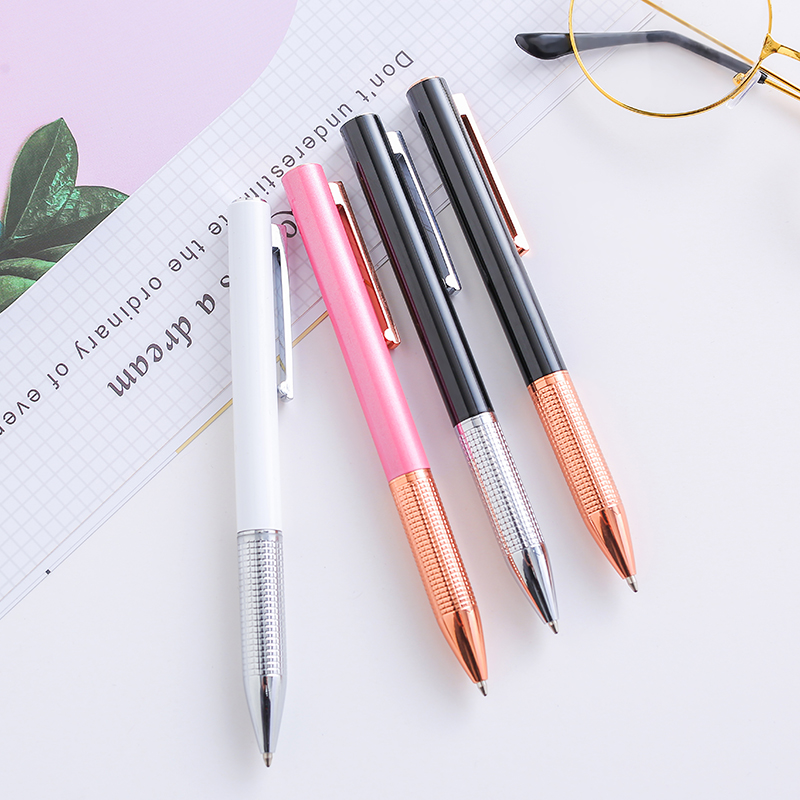 New Business Press Metal BallpointPen to Print LOGO Manufacturers Direct Sales of Metal Rotating Ballpoint Pen Hot Neutral