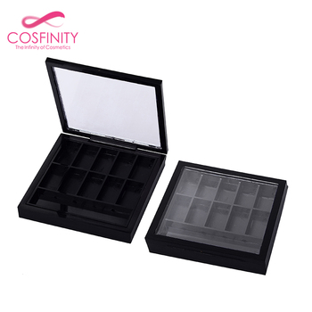 Square magnetic eyeshadow palette container cheek blusher empty plastic eye shadow pallet