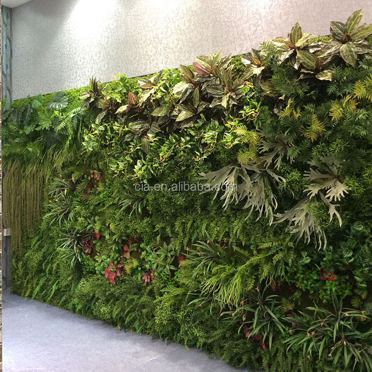 Synthetic Vertical Green Wall Artificial Grass Wall ...