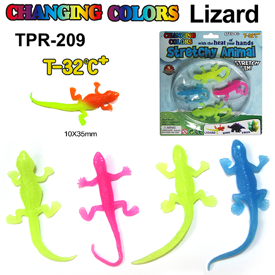 Novelty Changing Color Stretchy Lizard Toys