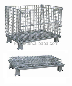 Foldable roll mesh container