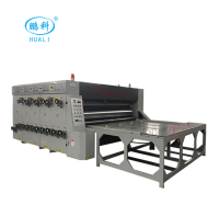 HL corrugated cardboard carton box High speed 1 / 2 /3/4 color printing slotting die cutting machine / printer slotter machine
