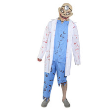 X-MERRY TOY Horror Zombie Doctor Costume Fancy Dress Accessories Halloween Costumes Adult Different Types of Carnival x20117