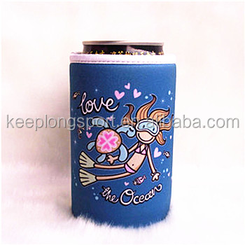 magnetic neoprene can cooler with nice printing, beer can cooler holder
