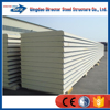 Insulated prefabricated sandwich wall/roof panel