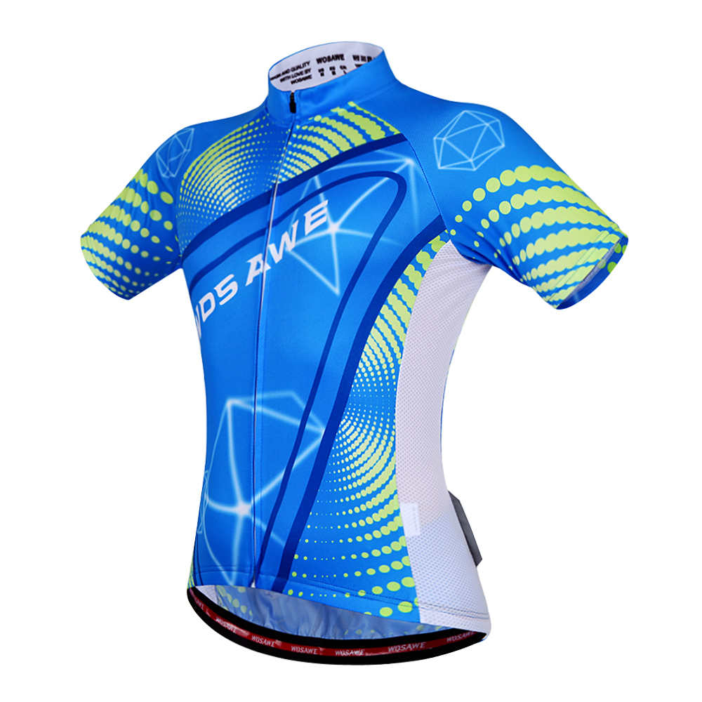 Sublimation Printing Full Length Zipper Short Sleeves Star Cycling Jersey