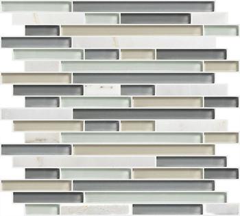 Wall Decorative Tile Strips Gl Stone Mosaic Crystal Subway Strip