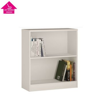 White Low Wooden Bookcase Small