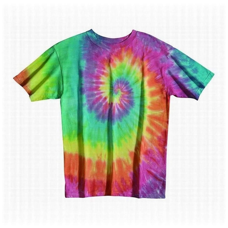 Tie Dye Mania Pastel Rainbow Swirl Tie-Dye Short Sleeve T