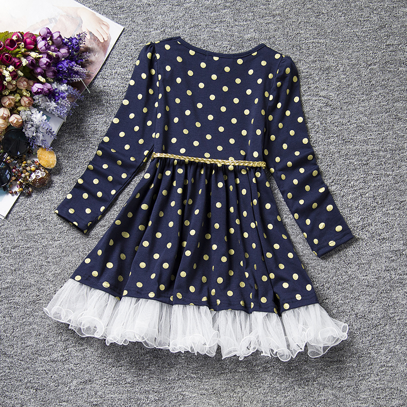 Detail Feedback Questions about Long Sleeves Girl Dress Autumn Black ... 9f91259a48e6