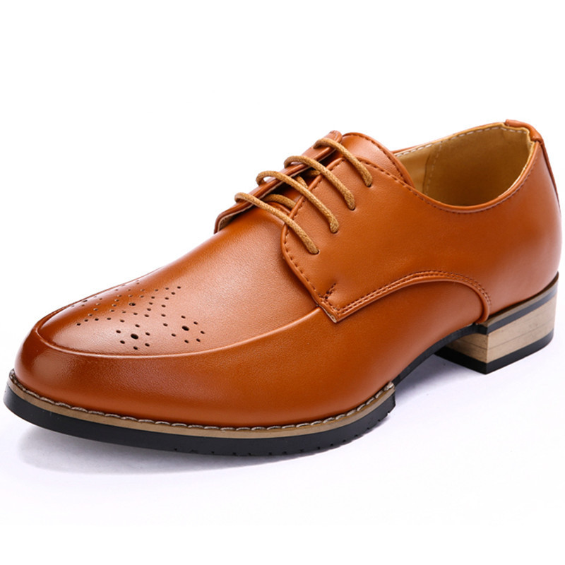 Hot Sale 2015 Italian Oxford Shoes For Man Casual Fashion Breathable Flats Shoes Lace-Up Sapatos Masculinos Spring Brown 38-43