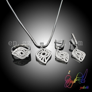 replica 925 silver jewelry 925 silver leave necklace silver pakistani bridal jewelry sets