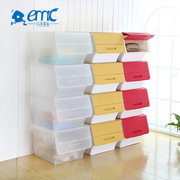 Wholesale folding plastic drawer paper book storage box