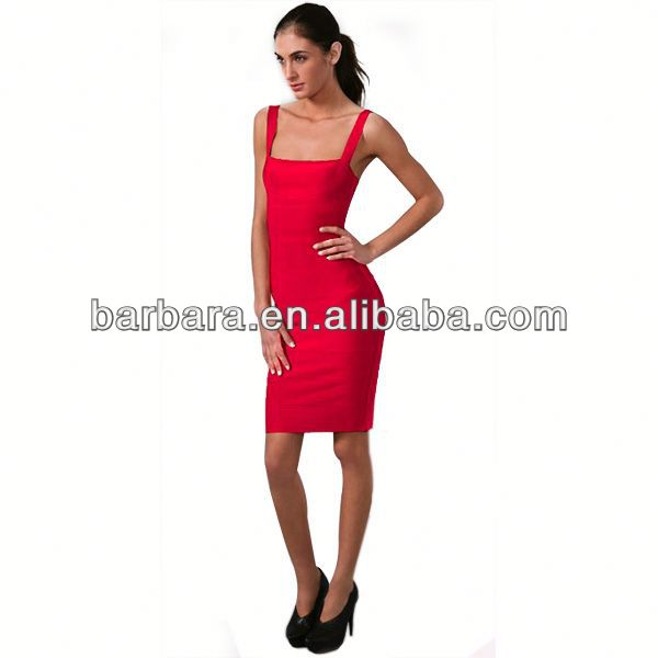Spaghetti strap shiny bandage dress dropshipping