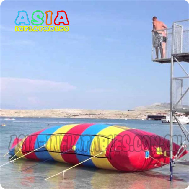 Rainbow color inflatable water bolb / Inflatable Water Pillow/ water blast bag/ water blob launcher for sale