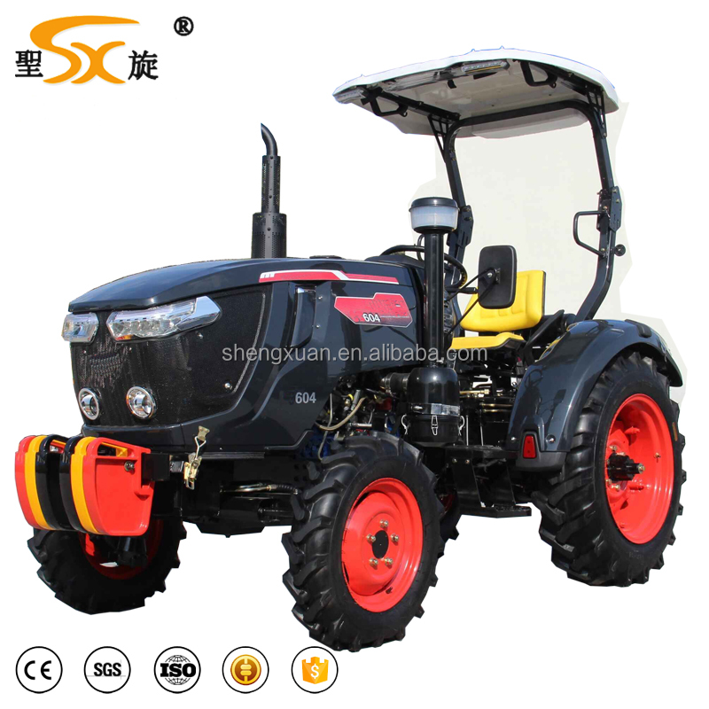 Good quality 60HP 4WD farm tractor strong power tractor with implements