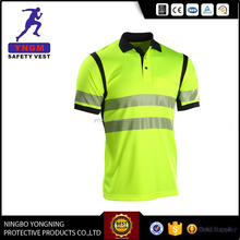 Fluorescent High Visibility Quality Reflective Safety Polo T shirt