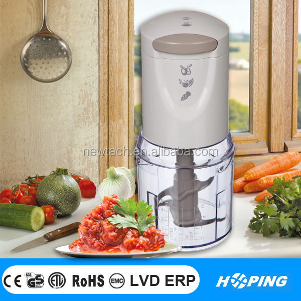 fashinal design food processor plastic mini electric vegetable chopper