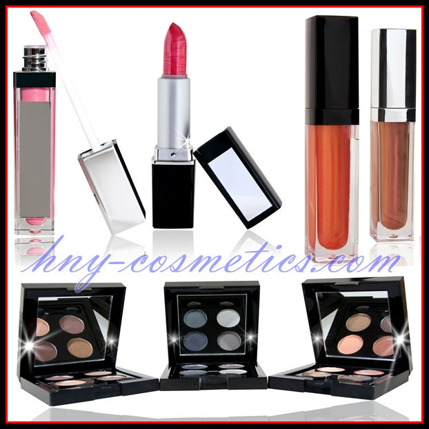 plastic LED lipstick container with mirror on cap