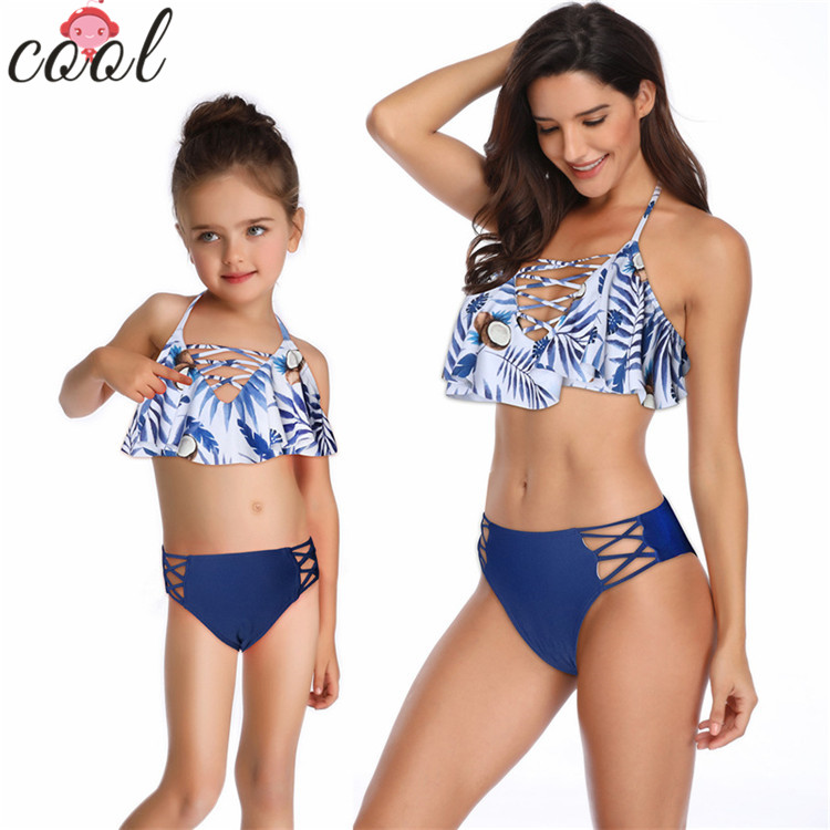 Mother and daughter <strong>swimwear</strong> 2pcs lady <strong>swimwear</strong> <strong>women</strong> 2019 sexy bathing suits
