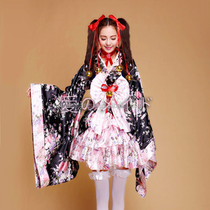 Anime Cosplay Lolita Halloween Fancy Dress Japanese Kimono Costume plus size S-3XL
