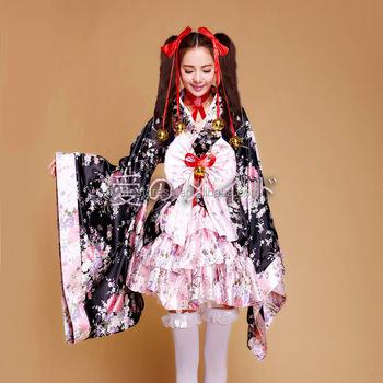 26176360704 Anime Cosplay Lolita Halloween Fancy Dress Japanese Kimono Costume plus size  S-3XL