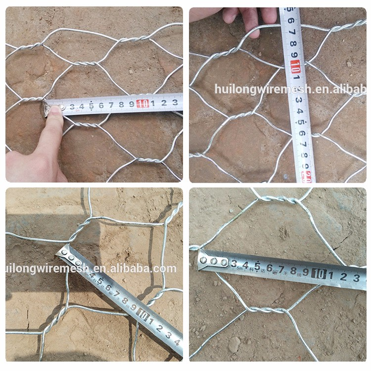 factory wholesale galvanized gabion box wire mesh / wire basket for stone retaining wall